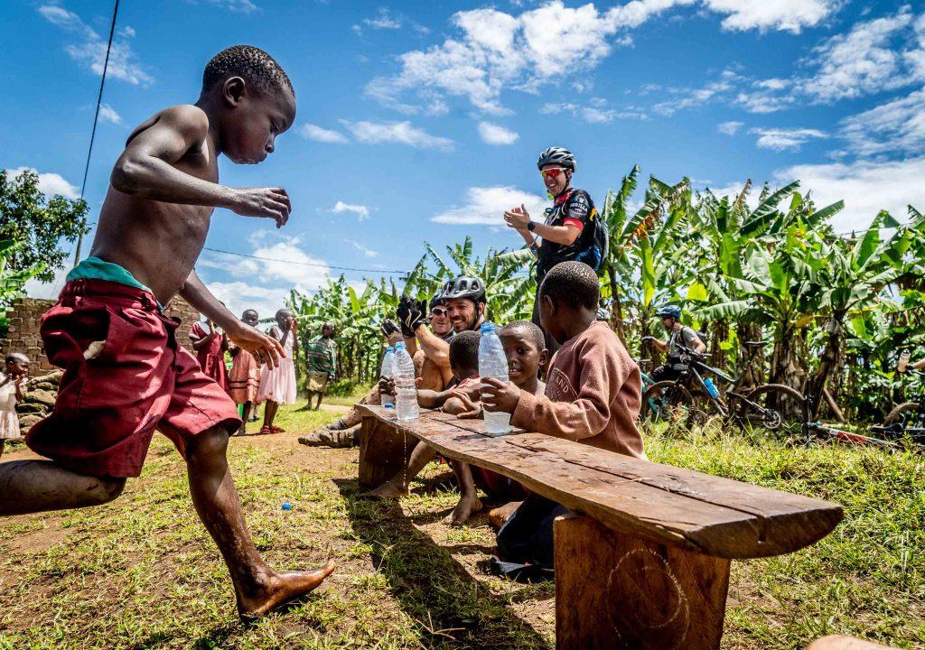 Schoolkinderen Oeganda